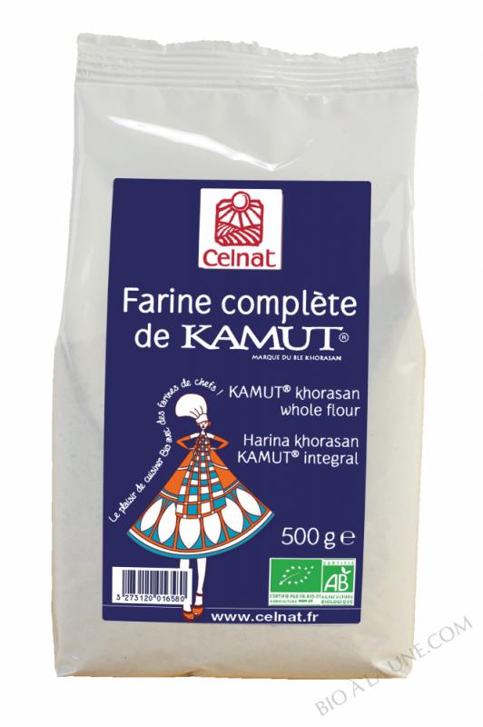 CELNAT Farine complète de Blé khorasan KAMUT® BIO - 500G