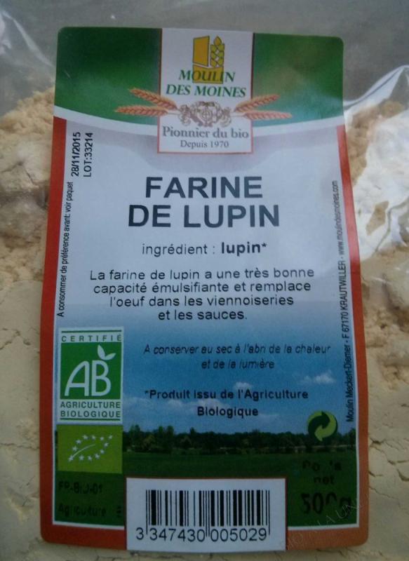 Farine bio de lupin complète - 500 g