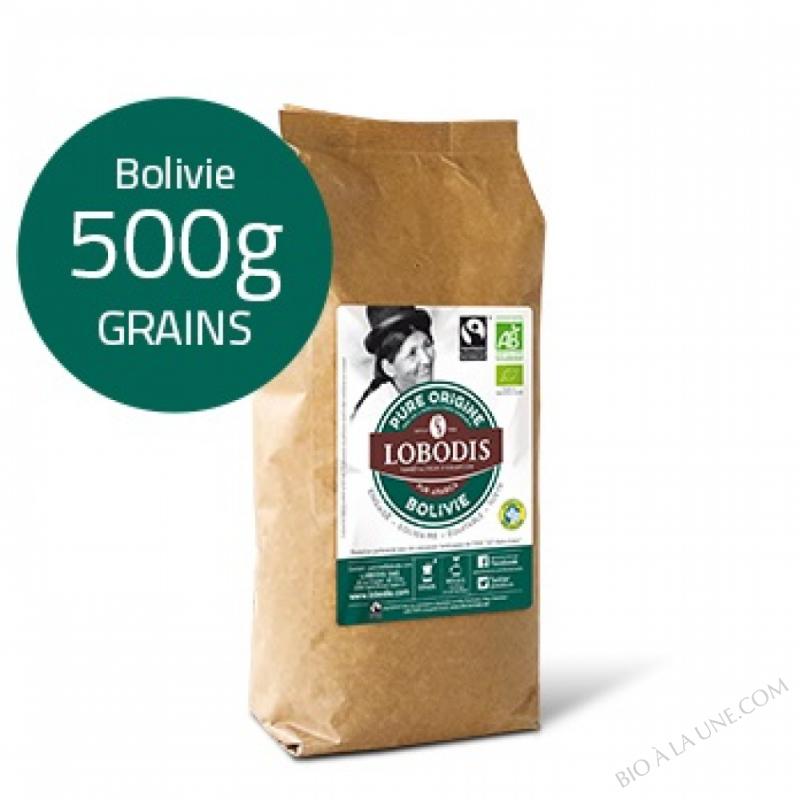 Café Grain BOLIVIE Arabica BIO Pure Origine - Lobodis - 500g