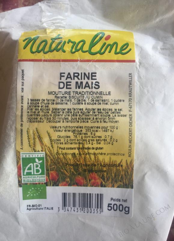 Farine de mais bio - 500g