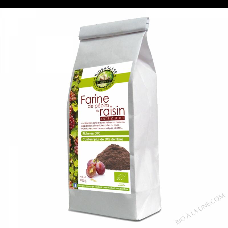 Farine de pepins de raisin Bio 400g