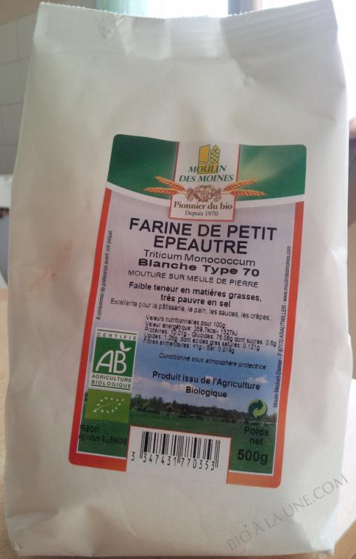 Farine de petit épeautre blanche (extraction 75%) type 65     (ENGRAIN) - 500 g