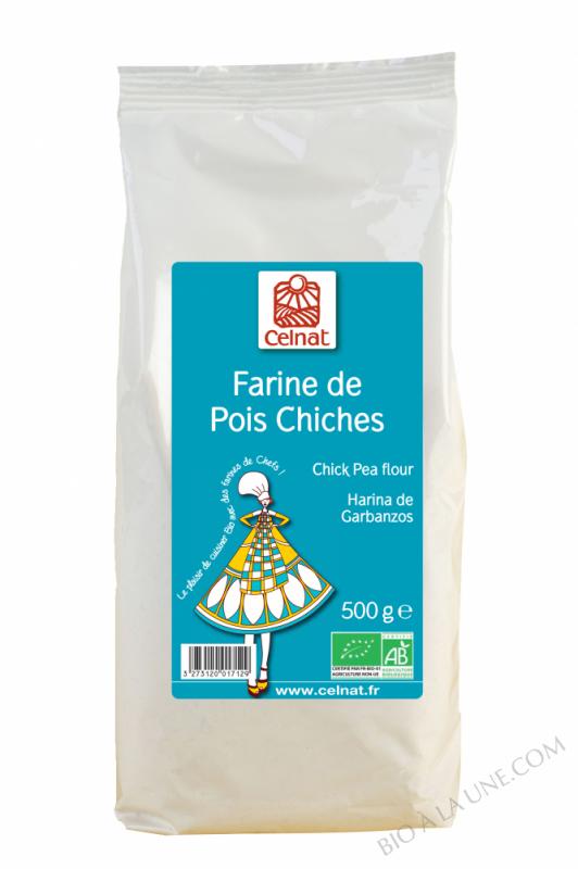 CELNAT Farine de Pois Chiches BIO - 500G