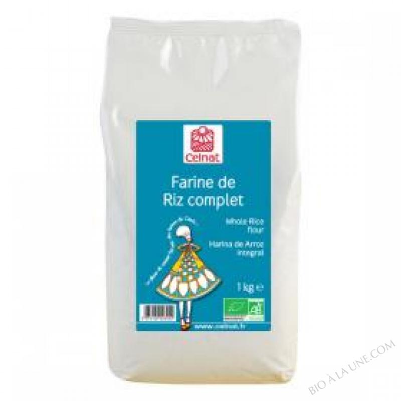 CELNAT Farine de Riz complet BIO - 1KG