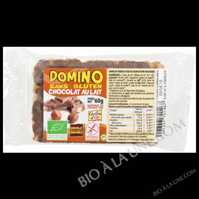 Domino sans gluten chocolat lait 60g