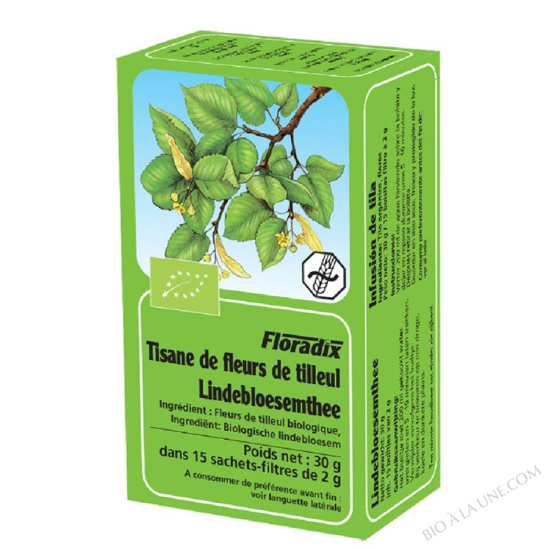 Tisane Floradix Fleurs de tilleul 15 sachets