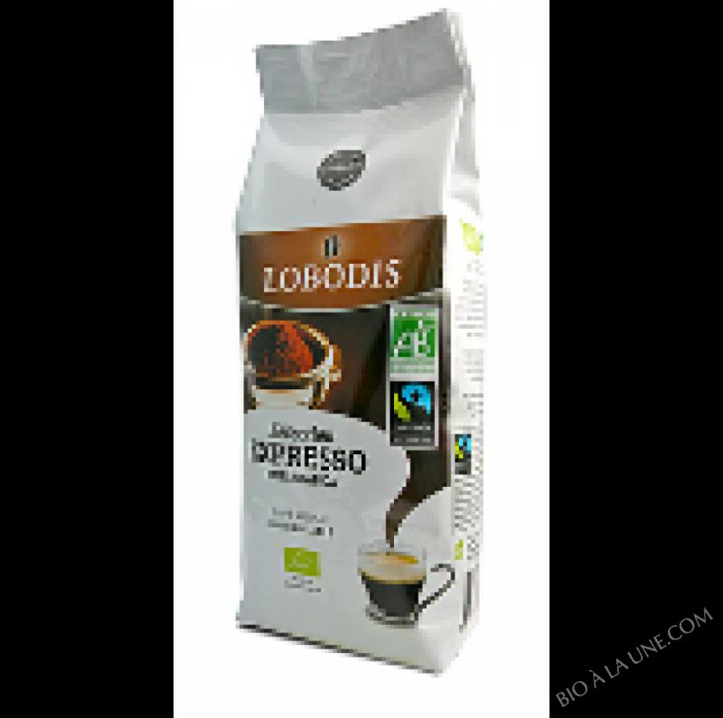 Café Moulu Arabica BIO Mouture spéciale Expresso - Lobodis - 250g