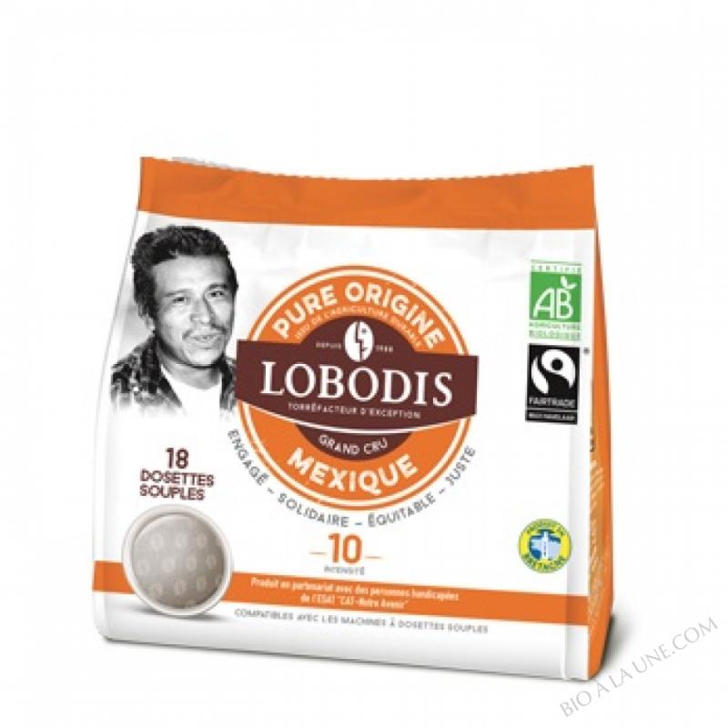 Dosettes souples MEXIQUE BIO Pure Origine - Lobodis - 18 dosettes