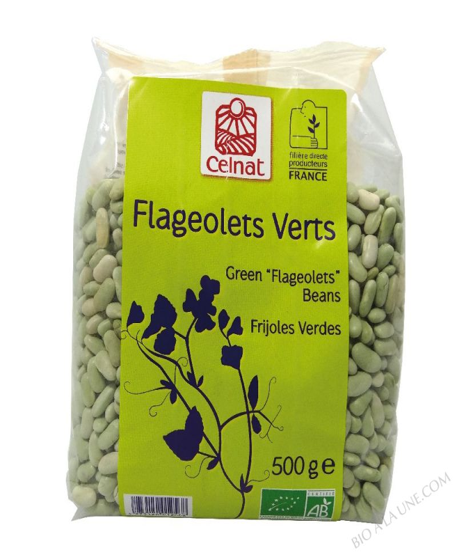 CELNAT Flageolets Verts  Origine France BIO - 500g