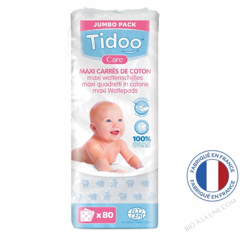 Maxi Carrés bébés en coton bio (x80)