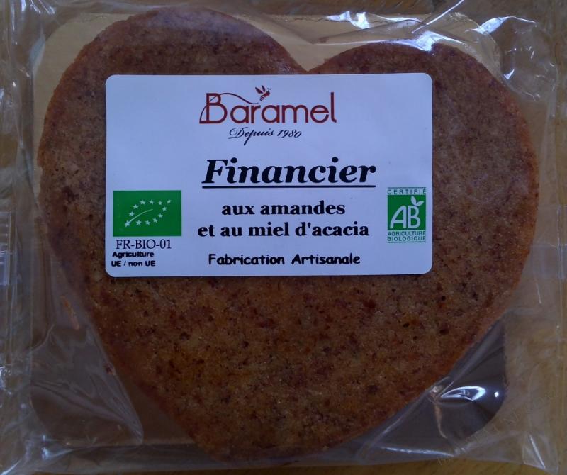 FINANCIER AUX AMANDES ET AU MIEL D'ACACIA- 70G