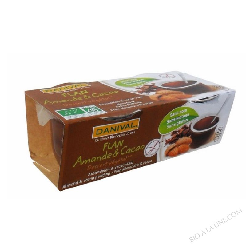FLAN AMANDES CACAO 2X110G