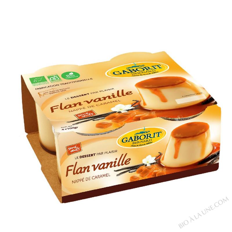 FLAN VANILLE 4X 100G GABO.