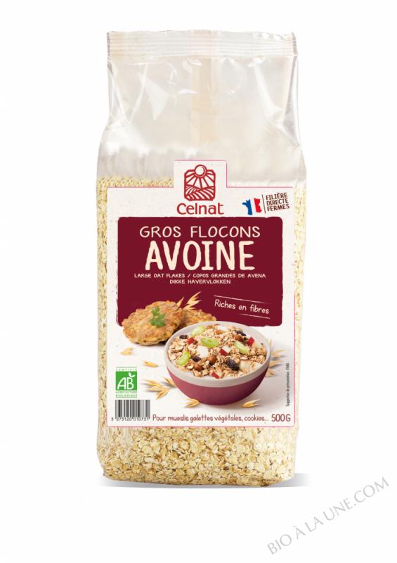 CELNAT Gros Flocons d'Avoine BIO - 500g