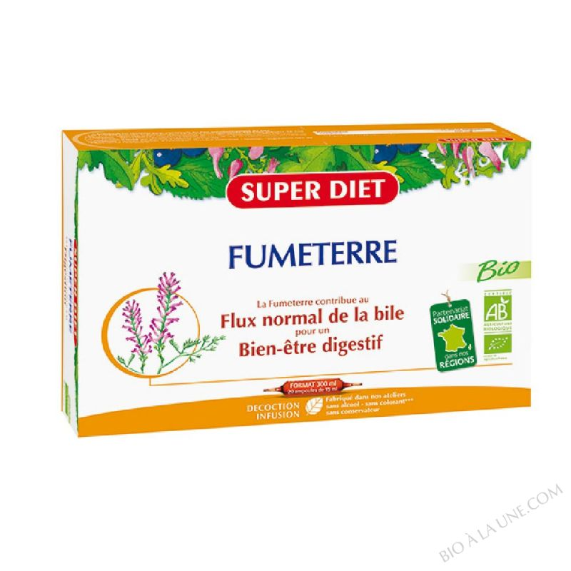 FUMETERRE AMPOULES 15ML (20) SUPER DIET