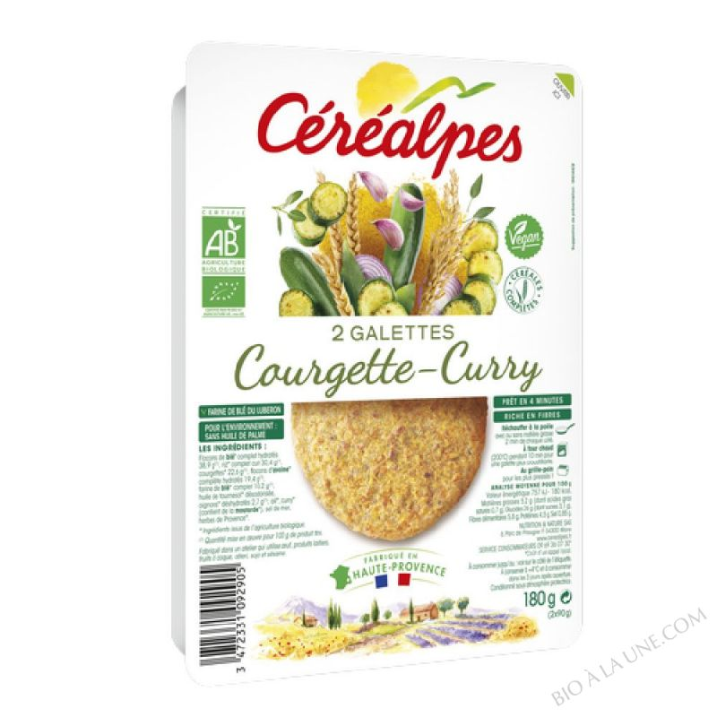 GALETTES COURGETTE-CURRY - 2 X 100 G