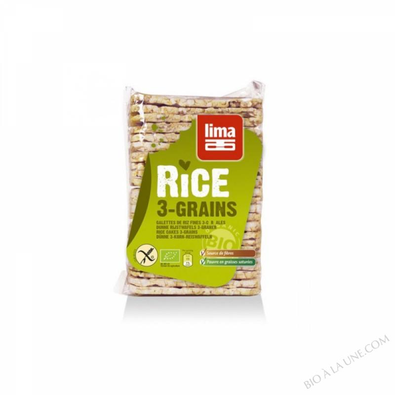 Galettes fines de riz trois cereales
