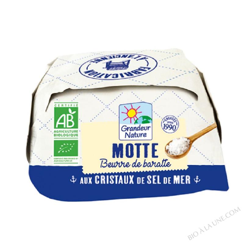 Beurre de baratte - Motte aux cristaux de Sel - 250g