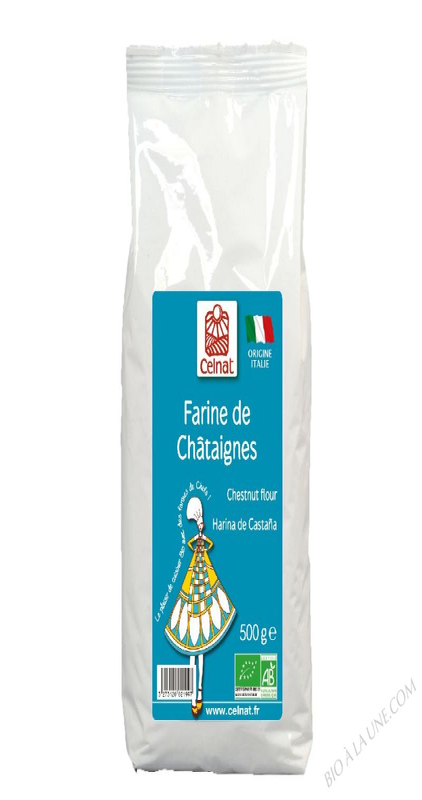 CELNAT Farine de Châtaignes - Italie BIO - 500G