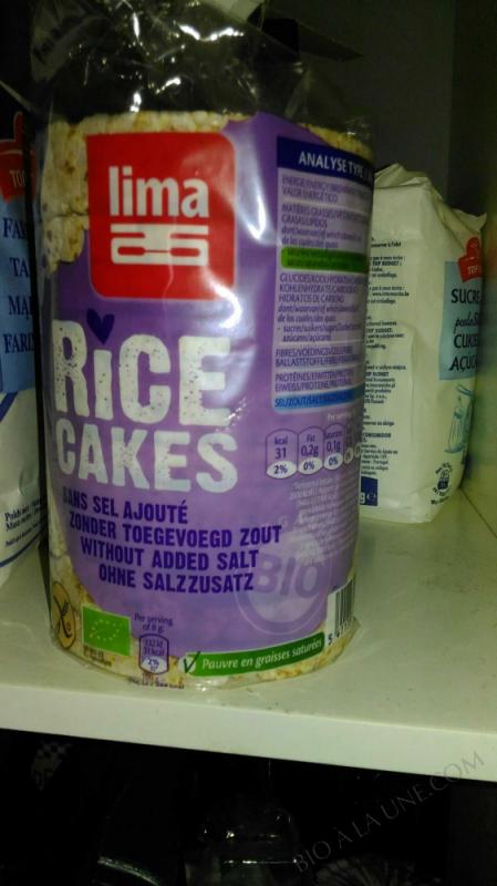 Galettes de riz sans sel 100g