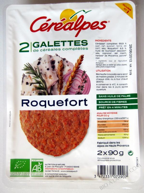 GALETTES DE CÉRÉALES COMPLÈTES ROQUEFORT- 180G