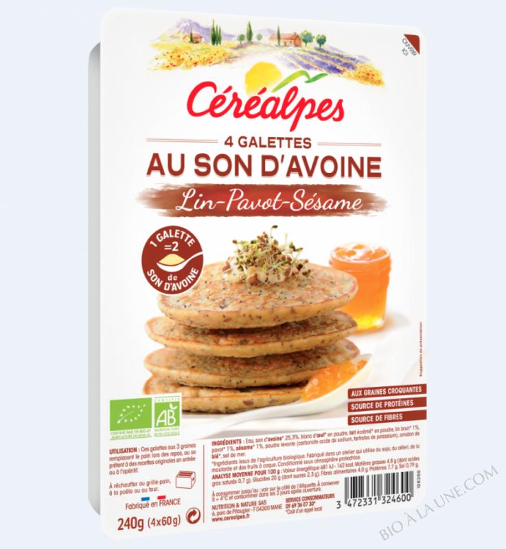 GALETTES AU SON D'AVOINE 3 GRAINES - 4 X 60 G