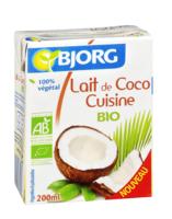 Lait de coco cuisine bio