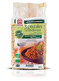 3 céréales à l'indienne