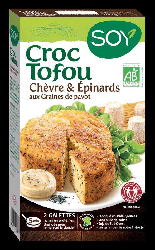 Croc Tofou Chèvre & Epinards, aux Graines de pavot