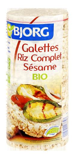 Galettes Riz Complet Sésame Bio