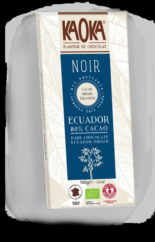 Chocolat Noir 80% bio équitable KAOKA