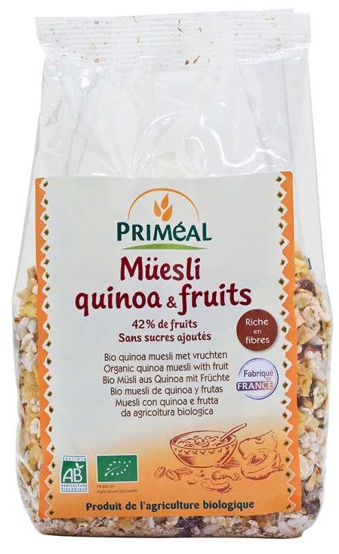Muesli quinoa et fruits