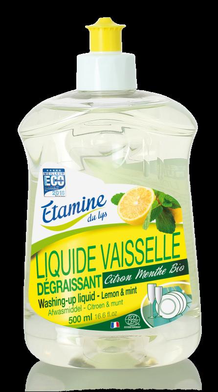 Liquide vaisselle citron-menthe 500 ml Etamine du lys