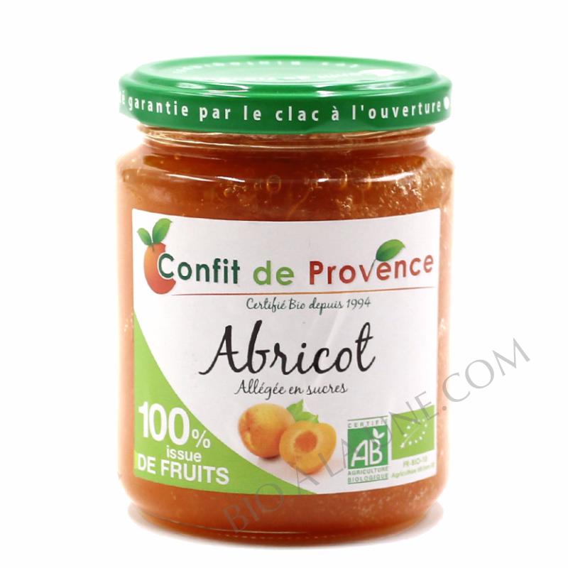 Confiture BIO allégée en sucres  100 % fruits - ABRICOT