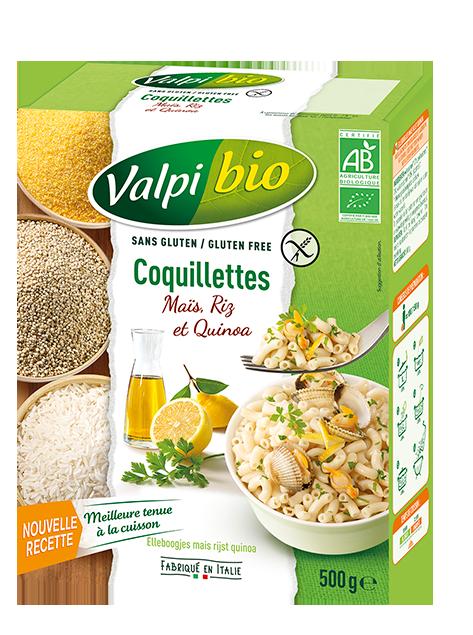 Coquillettes Maïs Riz et Quinoa Sans Gluten