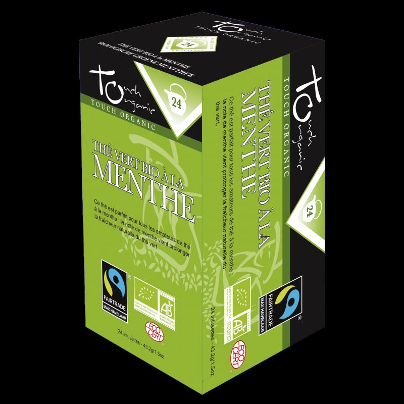 Thé vert bio à la menthe