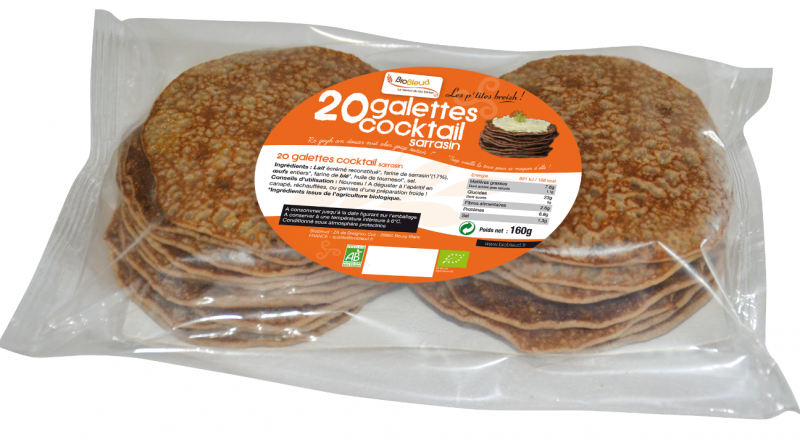 20 galettes cocktail sarrasin