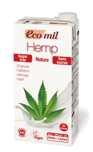 EcoMil Boisson au chanvre sans sucres Bio 1 L