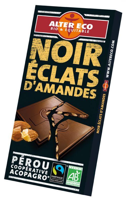 Chocolat noir éclats d'amandes