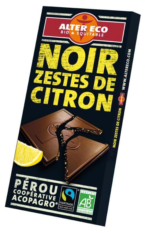 Chocolat noir zestes de citron