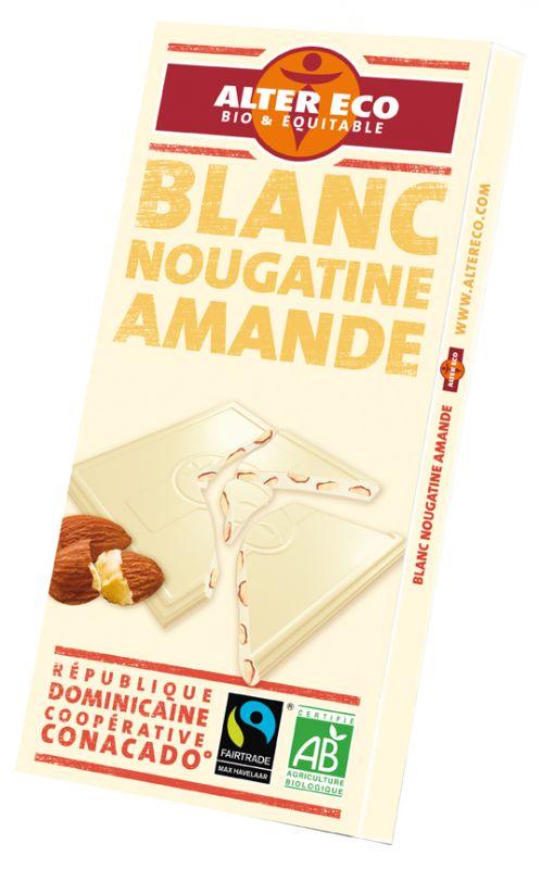 Chocolat blanc nougatine amande