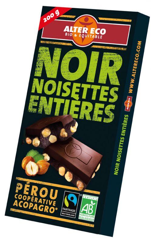 Chocolat noir noisette entières