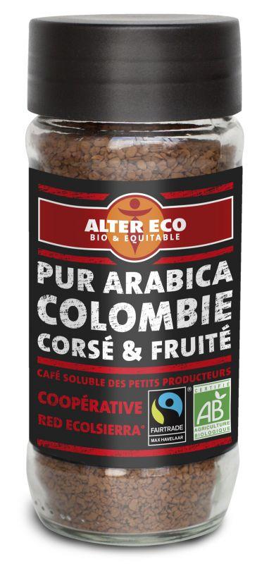 Café instantané soluble de Colombie
