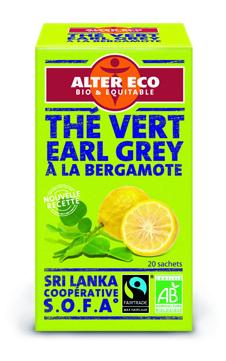 Thé vert Earl Grey Ceylan