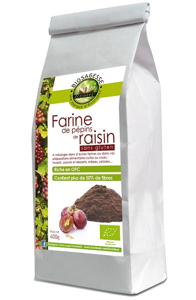 Farine de pépins de raisin