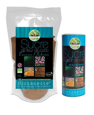Sucre coco curcuma