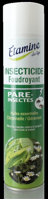 Insecticide foudroyant citronnelle Etamine du lys