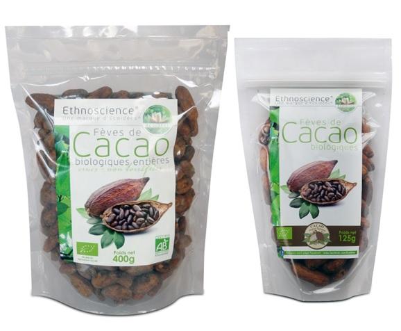 Fèves de cacao entières bio