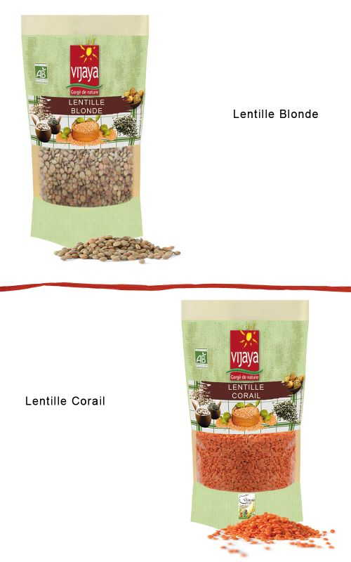 Lentille (Blonde, Corail) VIJAYA - Bio