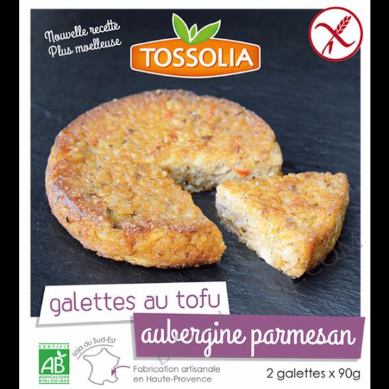Galettes au tofu Aubergine Parmesan